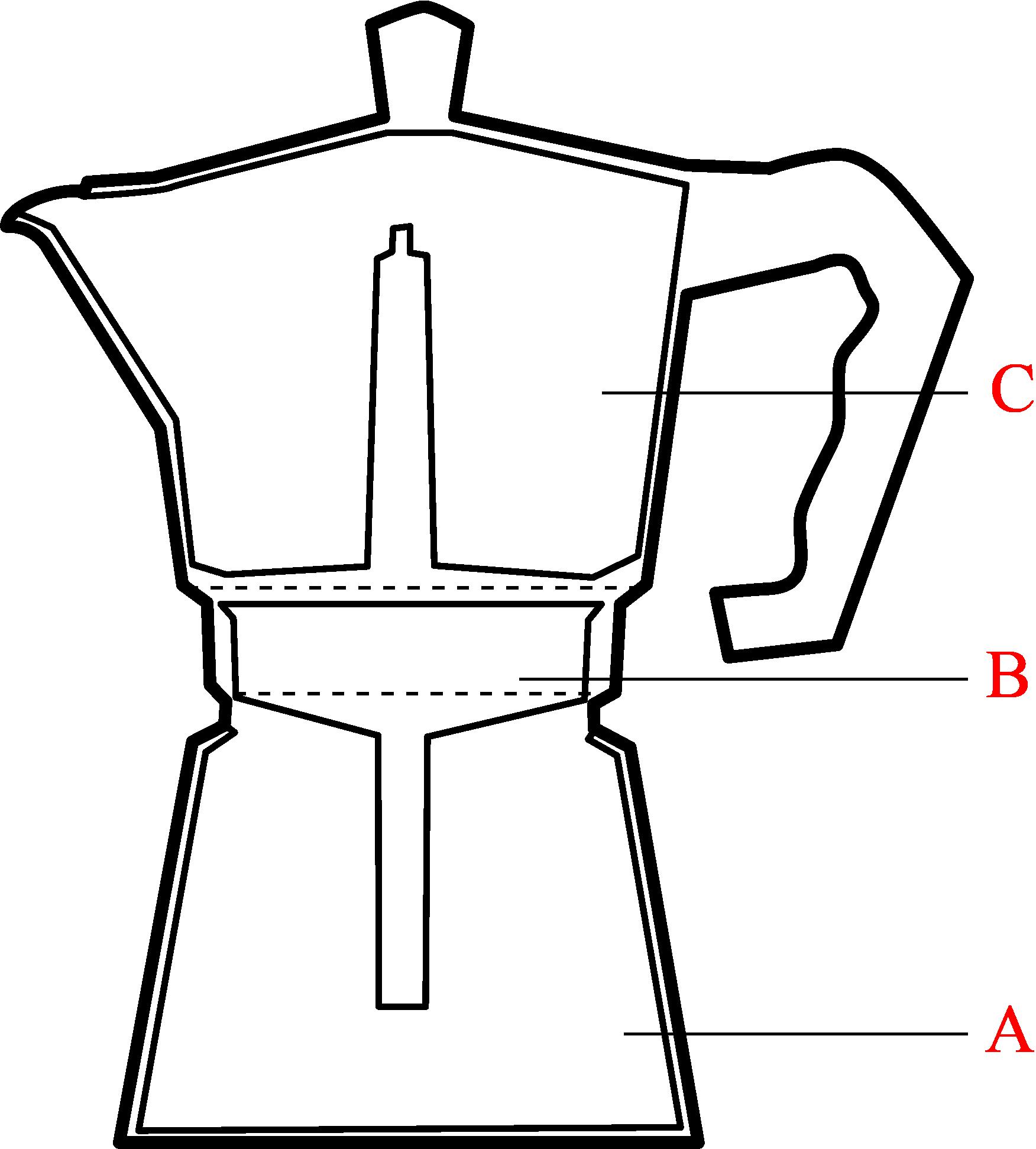 モカエキスプレスの断面図